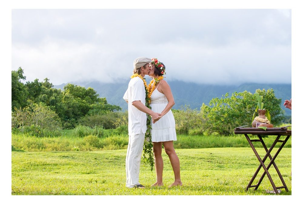 Countryside Hawaiian Wedding